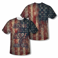 Fight Club Losing Hope Sublimation Shirt Front/Back Print