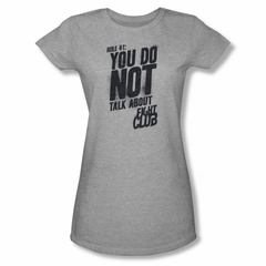 Fight Club Shirt Juniors Rule 1 Athletic Heather Tee T-Shirt