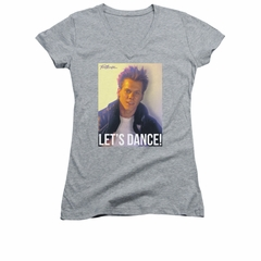 Fight Club Shirt Juniors V Neck Lets Dance Athletic Heather Tee T-Shirt