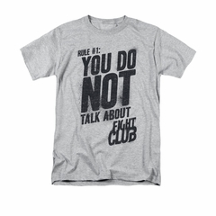 Fight Club Shirt Rule 1 Adult Athletic Heather Tee T-Shirt