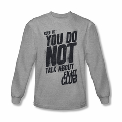 Fight Club Shirt Rule 1 Long Sleeve Athletic Heather Tee T-Shirt
