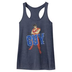 Final Fight Juniors Tank Top Guy Navy Blue Racerback