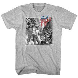 Final Fight Shirt B&W Fight Athletic Heather T-Shirt