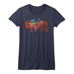 Final Fight Shirt Juniors Logo Navy Blue T-Shirt