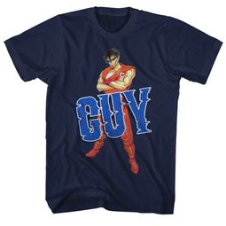 Final Fight Video Game Shirt Guy 2 Navy Blue T-Shirt