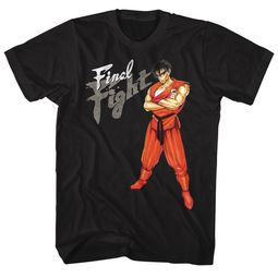 Final Fight Video Game Shirt Guy Black T-Shirt