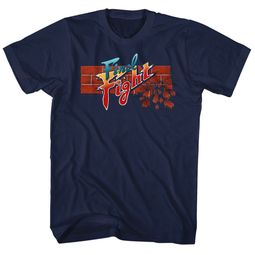 Final Fight Video Game Shirt Logo 2 Black T-Shirt
