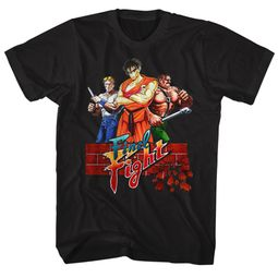 Final Fight Video Game Shirt Logo Black T-Shirt