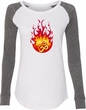 Fire OM Ladies Long Sleeve Preppy Patch Yoga Shirt
