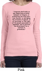 First Amendment Ladies Long Sleeve Shirt