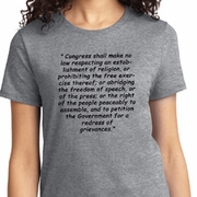 First Amendment Ladies Shirts