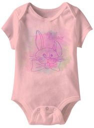 First Easter Funny Baby Romper Light Pink Infant Babies Creeper