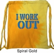 Fitness Bag I Work Out Tie Dye Bag