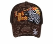 Flaming Eye Design Hat - Mesh Back Lackpard Cap - Dark Brown