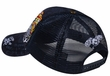 Flaming Eye Design Hat - Mesh Back Lackpard Cap - Navy
