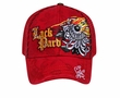 Flaming Eye Design Hat - Mesh Back Lackpard Cap - Red