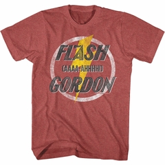Flash Gordon Shirt AAAA-AHHHH! Red Heather T-Shirt