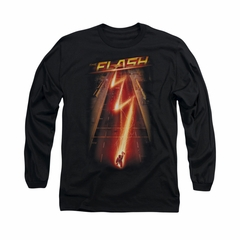 Flash Shirt Lightning Bolt Long Sleeve Black Tee T-Shirt