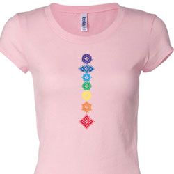 Floral Chakras Ladies Yoga Shirts