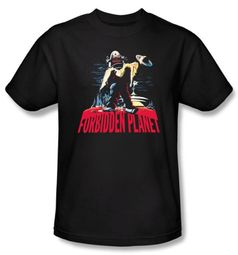 Forbidden Planet T-Shirt Warner Bros Movie Robby And Woman Adult Shirt