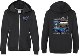 Ford 1967 Mustang (Front & Back) Ladies Full Zip Hoodie