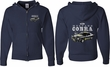 Ford 1974 Cobra Profile (Front & Back) Full Zip Hoodie