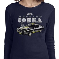 Ford 1974 Cobra Profile Ladies Long Sleeve Shirt