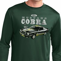 Ford 1974 Cobra Profile Mens Dry Wicking Long Sleeve Shirt