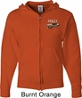 Ford 1974 Cobra Profile Pocket Print Mens Full Zip Hoodie