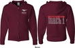 Ford 50 Years Mach I (Front & Back) Full Zip Hoodie