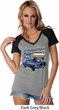 Ford American Muscle 1967 Mustang Ladies Contrast V-Neck Shirt