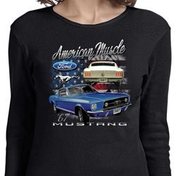 Ford American Muscle 1967 Mustang Ladies Long Sleeve Shirt