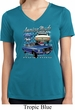 Ford American Muscle 1967 Mustang Ladies Moisture Wicking V-neck Shirt