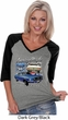Ford American Muscle 1967 Mustang Ladies Three Quarter Sleeve V-Neck