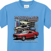 Ford Classic Mustangs Untamed Kids Shirts