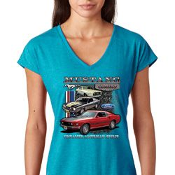 Ford Classic Mustangs Untamed Ladies Shirts