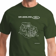 Ford Engine Parts Shirts