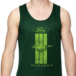 Ford Green Mustang Stripe Dry Wicking Tank Top