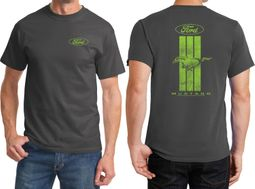 Ford Green Mustang Stripe Front & Back Shirts