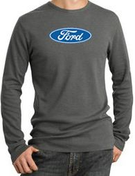Ford Logo Long Sleeve Thermals - Oval Emblem Adult Shirts