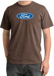Ford Logo Pigment Dyed T-Shirts - Oval Emblem Adult Tee Shirts