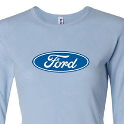 Ford Logo Shirt Oval Emblem Ladies Long Sleeve Tee T-Shirt
