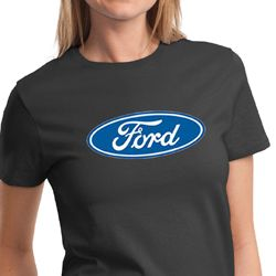 Ford Logo Shirt Oval Emblem Ladies Tee T-Shirt