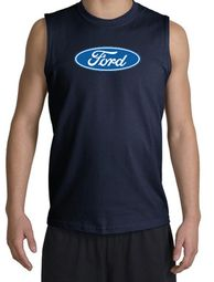 Ford Logo Shooter Shirts - Oval Emblem Classic Car Adult Muscle Shirts