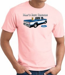 Ford Man's Best Friends Classic Truck Adult T-Shirt- Pink