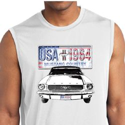Ford Mens Shirt USA 1964 Country Sleeveless Moisture Wicking Tee