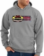 Ford Mustang Boss Hoodie - 302 Yellow Mustang Adult Heather Grey Hoody
