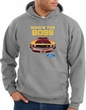 Ford Mustang Boss Hoodie - Who's The Boss 302 Heather Grey Hoody