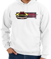 Ford Mustang Boss Hoodies - 302 Yellow Mustang Adult Hoodys