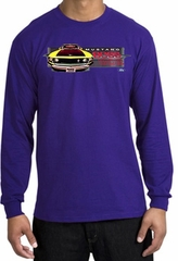 Ford Mustang Boss Long Sleeve Shirt - 302 Yellow Mustang Purple Tee